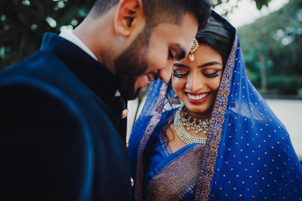 Candid Moment of bride and groom